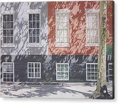 Macdougal Street Acrylic Print by Harvey Rogosin