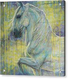Magic Blue Acrylic Print by Silvana Gabudean