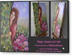 Acrylic Print featuring the painting Magic Garden 021108 by Selena Boron
