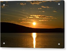 Acrylic Print featuring the photograph Maine Sunset by James Petersen