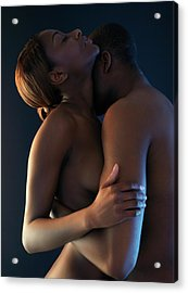 Making Love Acrylic Print by Kate Jacobs/science Photo Library