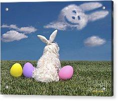 Maltese Easter Bunny Acrylic Print