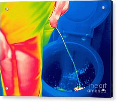 Man Urinating, Thermogram Acrylic Print