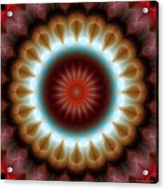 Acrylic Print featuring the digital art Mandala 83 by Terry Reynoldson