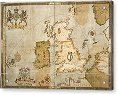 Map Of The British Isles Acrylic Print
