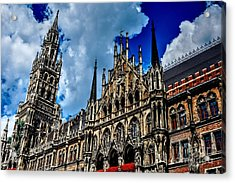 Acrylic Print featuring the photograph Marienplatz In Munich by Joe  Ng