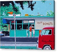 Maries Donuts Acrylic Print by Paul Guyer