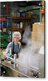 Marijuana Products Factory Acrylic Print by Jim West