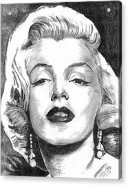 Marilyn Acrylic Print by Ariel Davila