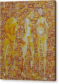 Mary Gestured Thrice Acrylic Print