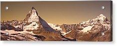 Matterhorn Switzerland Acrylic Print by Panoramic Images