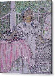 Mckenna's Tea Party Acrylic Print by Linda Simon