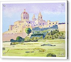 Mdina Skyline Acrylic Print