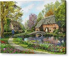 Meadow Cottage Acrylic Print by Dominic Davison
