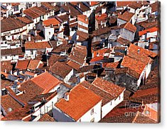Medieval Town Rooftops Acrylic Print