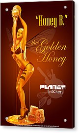 Meet Honey Bee Acrylic Print by YNFWB Your new friends with BENEFITS