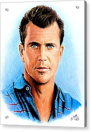 Mel Gibson Acrylic Print by Andrew Read