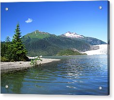 Acrylic Print featuring the photograph Mendenhall Glacier by Jennifer Wheatley Wolf