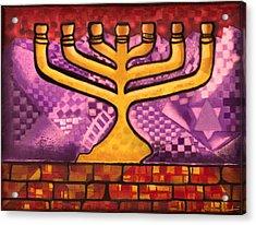 Menorah Acrylic Print by Aiden Kashi