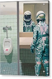 Acrylic Print featuring the painting Men's Room by Scott Listfield