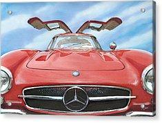 Mercedes Gullwing Acrylic Print