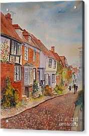 Acrylic Print featuring the painting Mermaid Street Rye by Beatrice Cloake