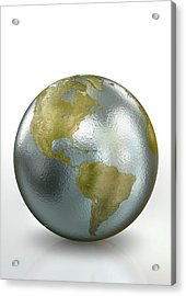 Metallic Earth Acrylic Print by Animated Healthcare Ltd/science Photo Library