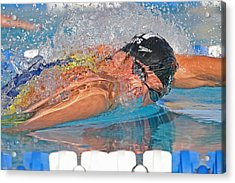 Acrylic Print featuring the photograph Michael Phelps by Duncan Selby