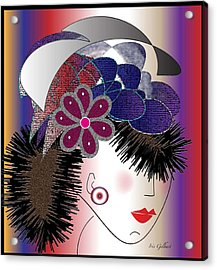 Michelle Acrylic Print by Iris Gelbart