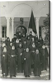 Militant Monks On Mount Athos Acrylic Print by Retro Images Archive