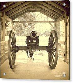 Military Cannon Fort Washita Acrylic Print by Mickey Harkins
