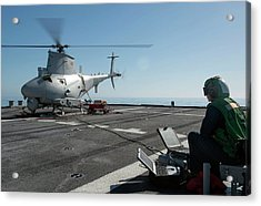 Military Helicopter Drone Acrylic Print by Us Navy