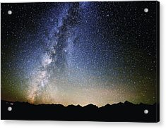 Milky Way At The Tetons Acrylic Print by Jean Hutchison
