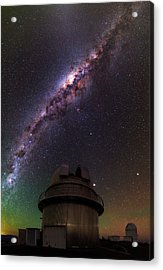 Milky Way Over La Silla Observatory Acrylic Print by Babak Tafreshi