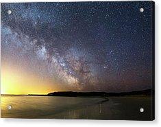 Milky Way Over The Coast Acrylic Print
