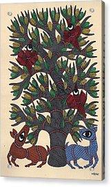 Miniature  Painting - Mughal Acrylic Print