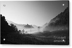 Mist In The Valley Acrylic Print by Setsiri Silapasuwanchai