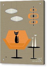 Mod Chair In Orange Acrylic Print