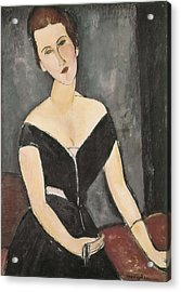 Modigliani, Amedeo 1884-1920. Portrait Acrylic Print by Everett