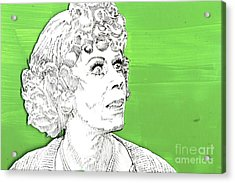 Momma On Green Acrylic Print