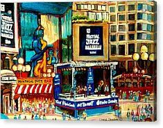 Montreal International Jazz Festival Acrylic Print