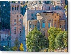Montserrat Monastery Near Barcelona Spain Acrylic Print