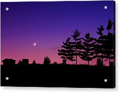 Moonset Acrylic Print by Cale Best