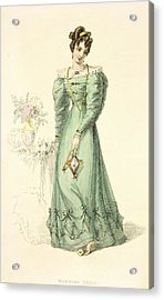 Morning Dress, Fashion Plate Acrylic Print by English School
