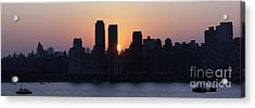 Acrylic Print featuring the photograph Morning On The Hudson by Lilliana Mendez