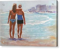 Mother And Daughter Acrylic Print by Janet McGrath