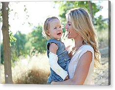 Mother Carrying Daughter Acrylic Print