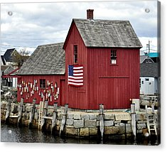 Acrylic Print featuring the photograph Motif  Rockport Ma by Caroline Stella