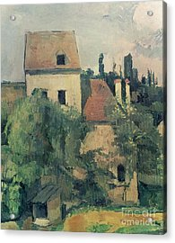 Moulin De La Couleuvre At Pontoise Acrylic Print by Paul Cezanne