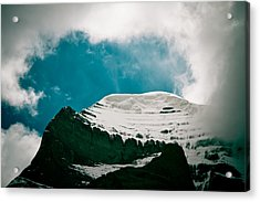 Mount Kailash Western Slope Home Of The Lord Shiva Acrylic Print by Raimond Klavins